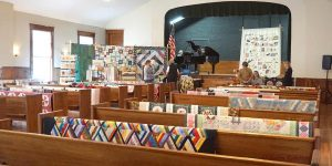 Quilt Show in the Harrington Opera House