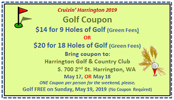 Golf Coupon - $14 for 9 holes or $20 for 18 holes - Free Golf on Sunday 5/19/19