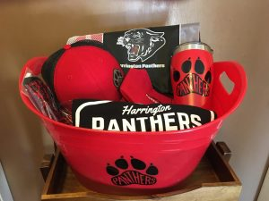 Bowl of Harrington Panther logo items