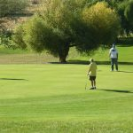 Golfers on golf cours