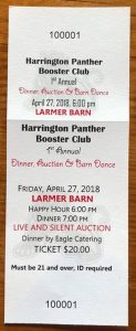 Harrington Panther Booster Club Dinner & Auction - 4-27-18