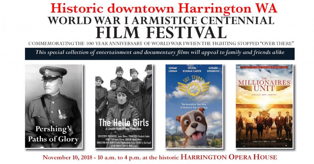 Armistice Day Movie Festival -2018 - Pershing's Path of Glory, The Hello, Sgt. Stubby an American Hero, The Millionaires Unit
