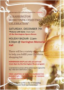 Harrington Hometown Christmas - Dec 7th -flier