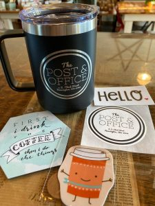 Post & Office mug and stickers